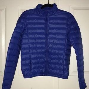 NEW BUFFALO David Bitton Blue Puffer Jacket